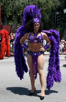 Purple Vegas showgirl WEHO Pride 2010