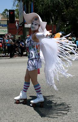 Rollerskating Sister of Perpetual Indulgence LA Pride 2010