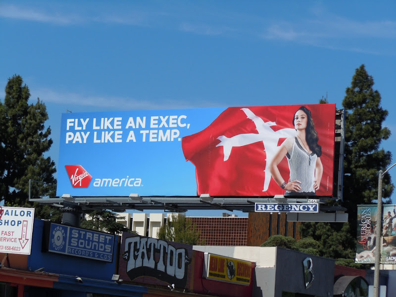 Virgin America Pay like Temp billboard