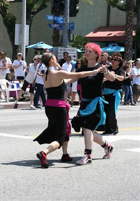 Ballroom dancers LA Gay Pride 2010