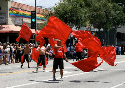 Gay Men's Chorus flags WEHO Pride 2010