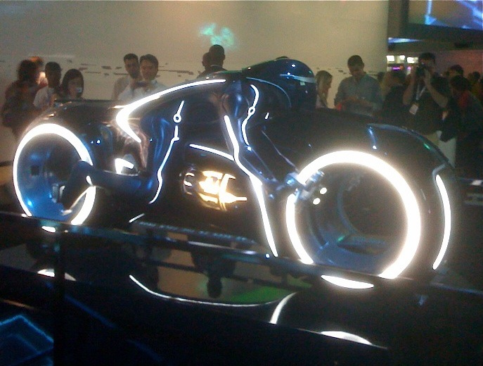 Tron Legacy Lightcycle display