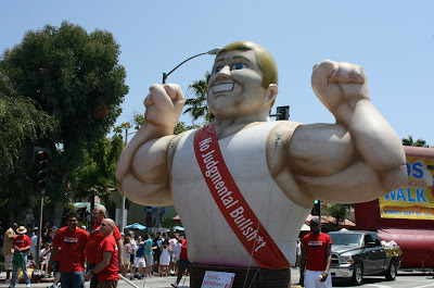 West Hollywood Parade safe sex inflatable 2010
