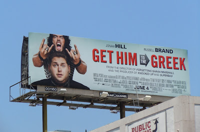 Get Him to the Greek movie billboard