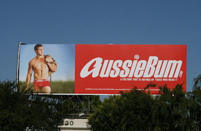 AussieBum men's underwear model billboard