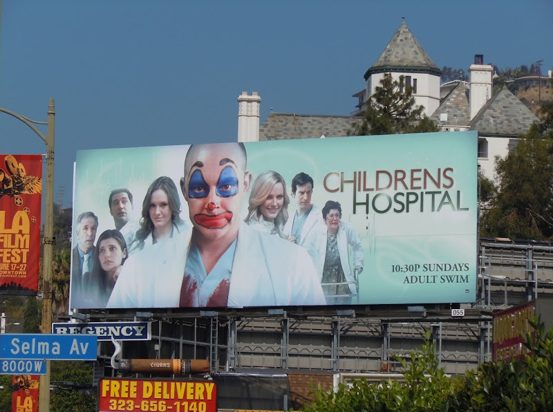 Childrens Hospital Adult Swim billboard