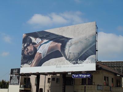 Sexy Eva Mendes CK Jeans billboard