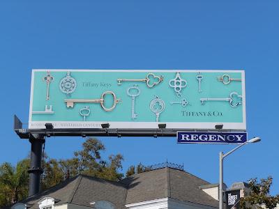 Tiffany Keys jewelry billboard