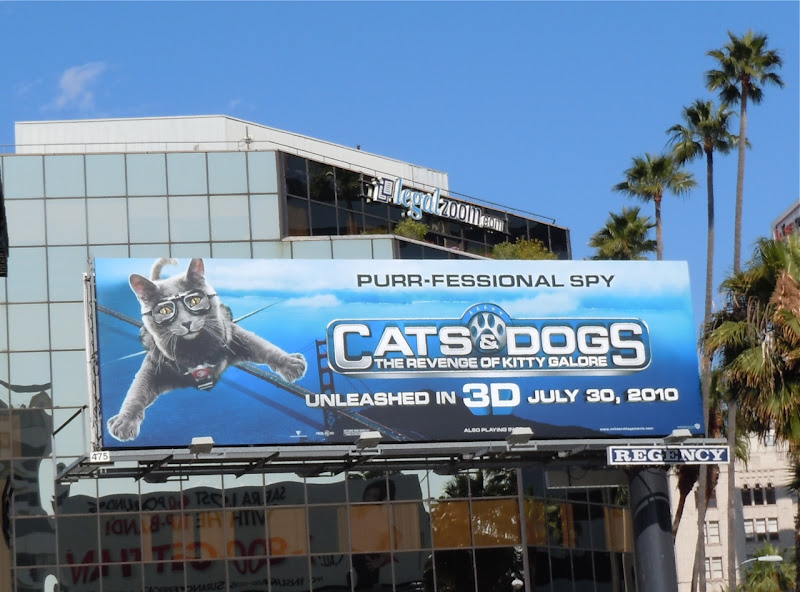 Cats and Dogs 3D film billboard