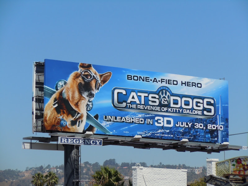 Cats and Dogs 3D movie billboard