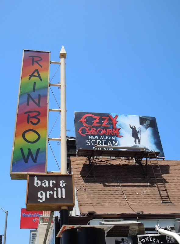 Ozzy poster Rainbow Bar and Grill