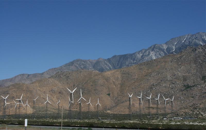 Palm Springs wind turbine farm