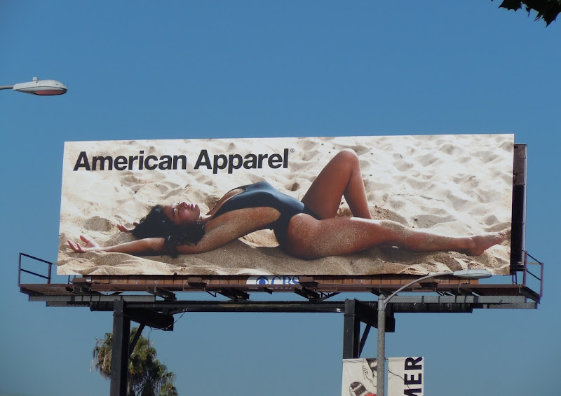 Hot American Apparel swimsuit billboard