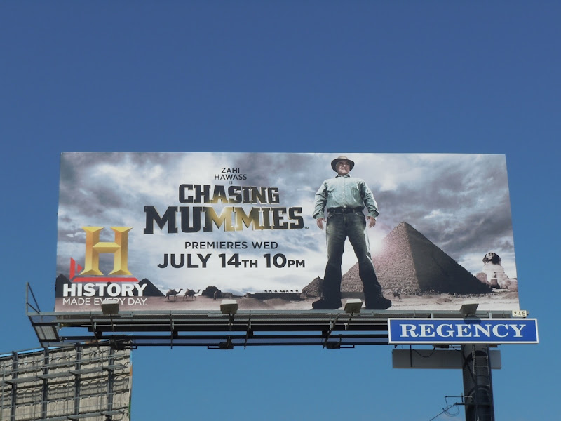 Chasing Mummies TV billboard