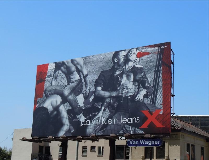 Raunchy Calvin Klein Jeans X Billboard