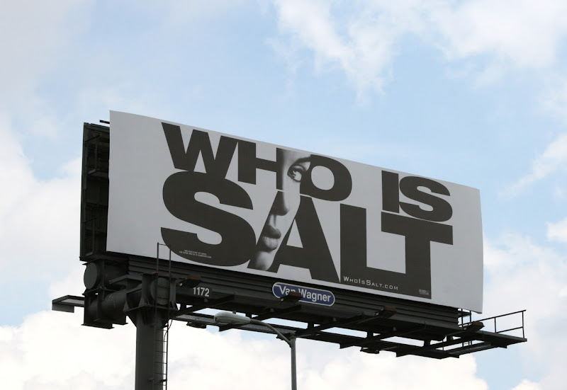 Who is Salt movie billboard