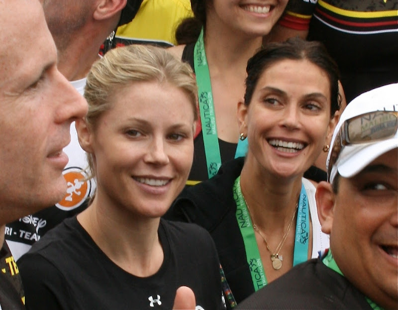 Julie Bowen and Teri Hatcher Disney Triathlon Team