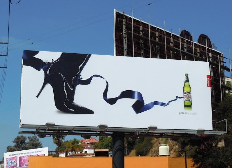 Peroni Beer high heel shoe billboard