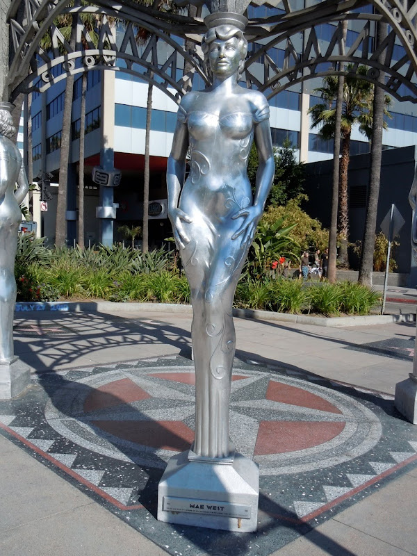 Mae West Silver Hollywood statue