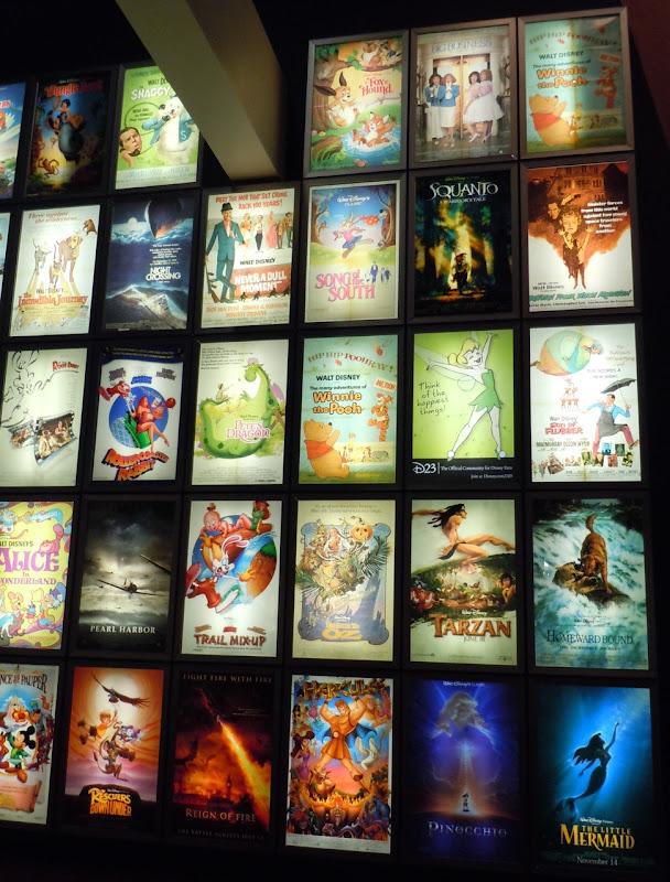 ArcLight cinema's Disney poster wall