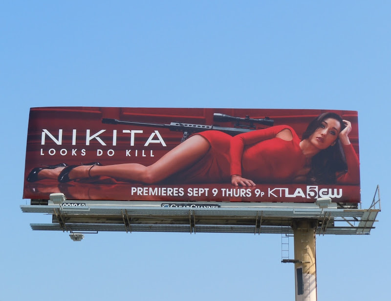 Nikita Looks Do Kill TV billboard