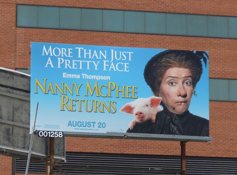 Nanny McPhee Returns Pretty Face billboard