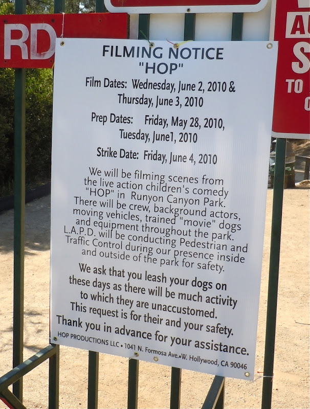 Hop movie filming notice