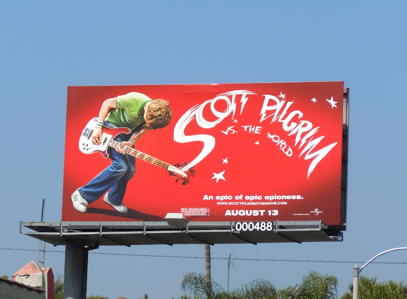 Michael Cera Scott Pilgrim film billboard