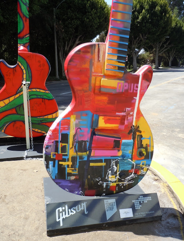 Opus 13 GuitarTown sculpture Sunset Strip