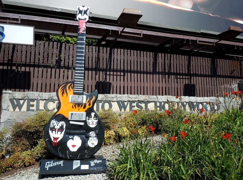 Kiss GuitarTown sculpture Sunset Strip