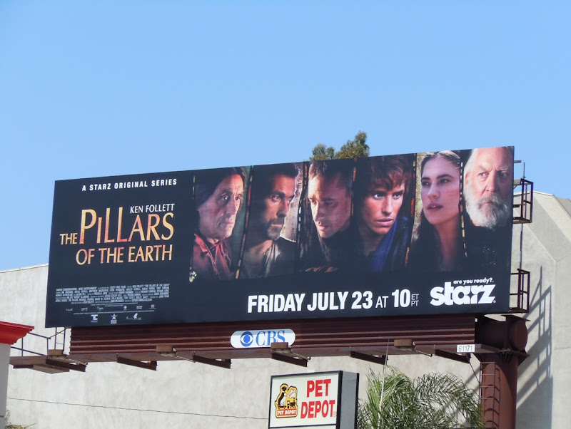 Pillars of the Earth TV billboard