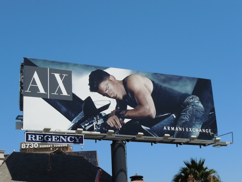 AX hot male model billboard