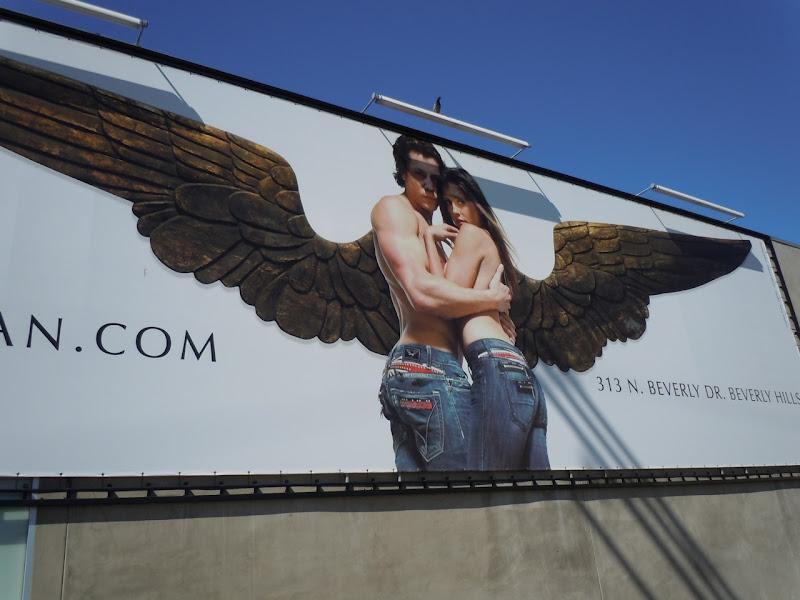 Male female angel billboard