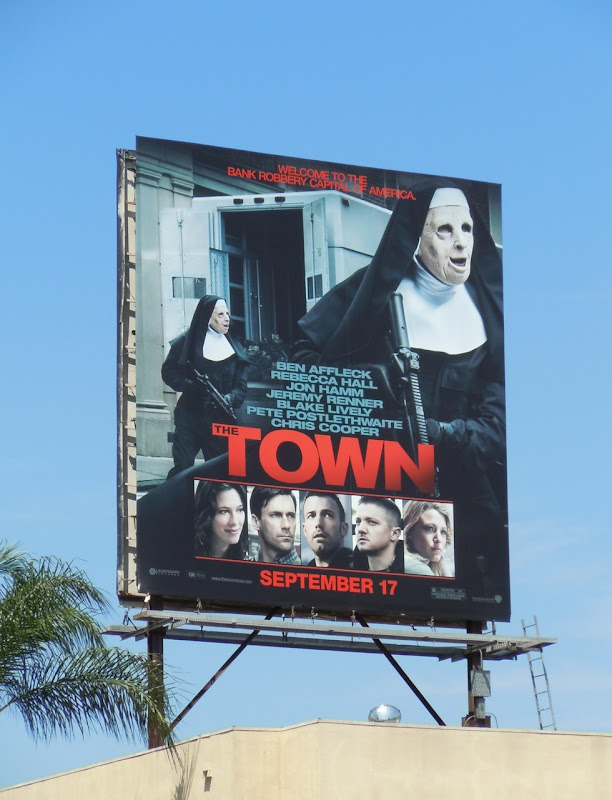 The Town movie billboard