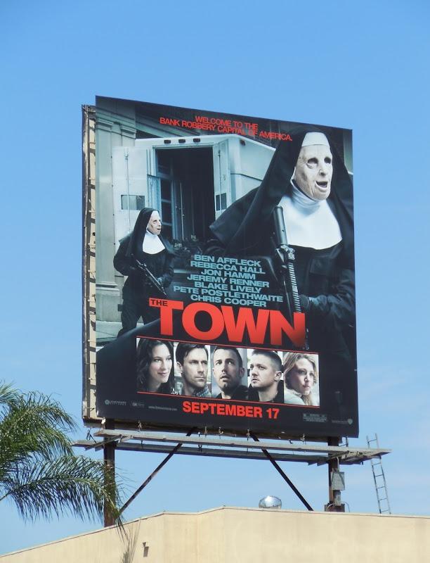 The Town movie billboard