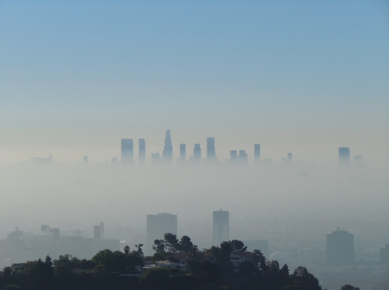 Misty Downtown Los Angeles