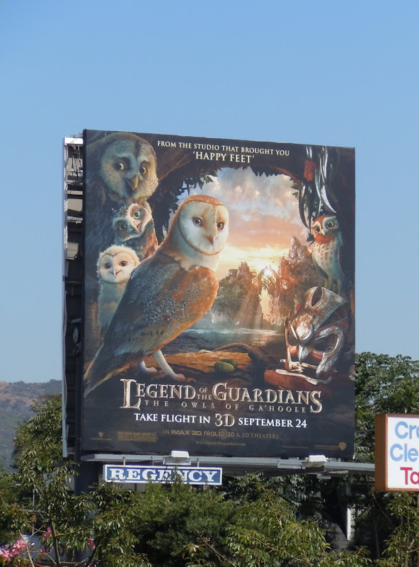 Legend of the Guardians owls billboard