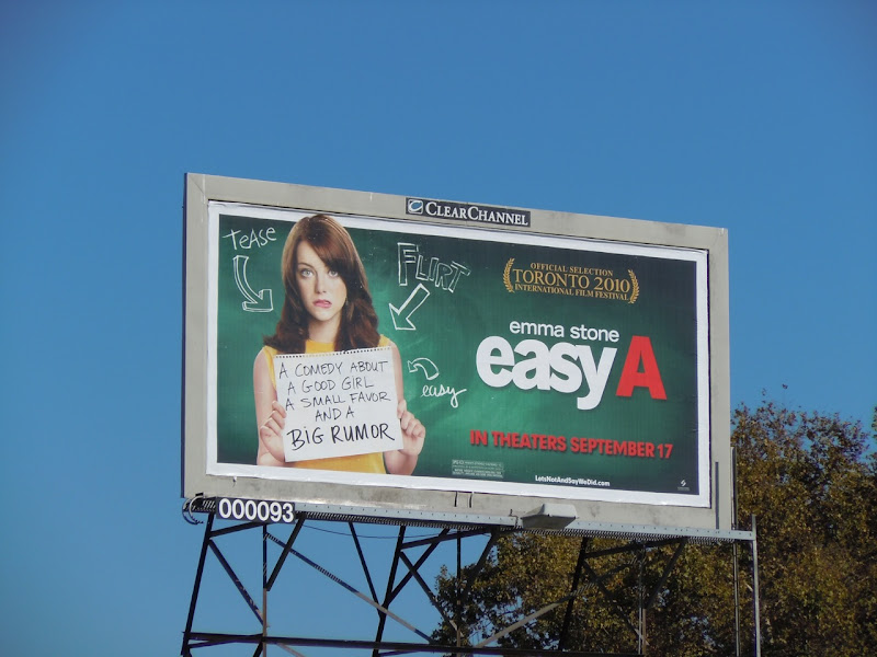 Easy A movie billboard