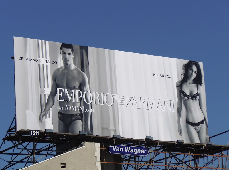 Ronaldo and Megan Fox Armani underwear billboard