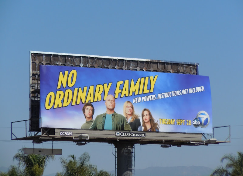 No Ordinary Family TV billboard