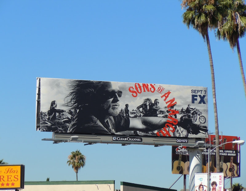 Sons of Anarchy season 3 TV billboard