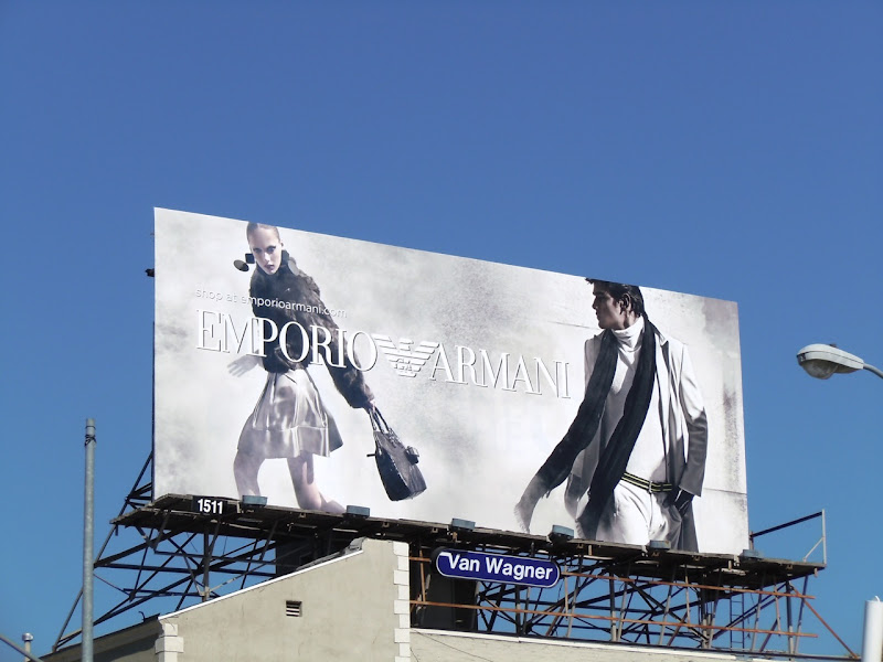 Emporio Armani Autumn billboard