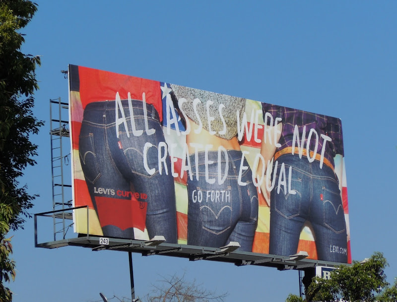 Levi's Asses not equal billboard