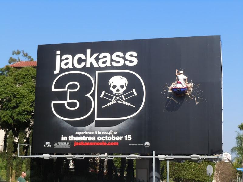 Jackass 3D crashed jet ski billboard
