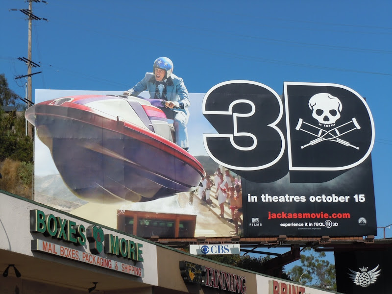 Jackass 3d jet ski movie billboard
