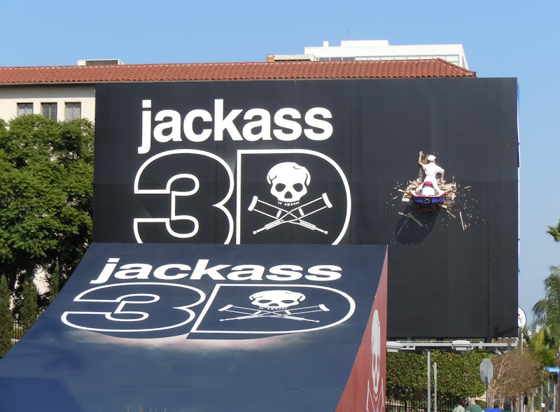 Jackass jet ski ramp 3D billboard