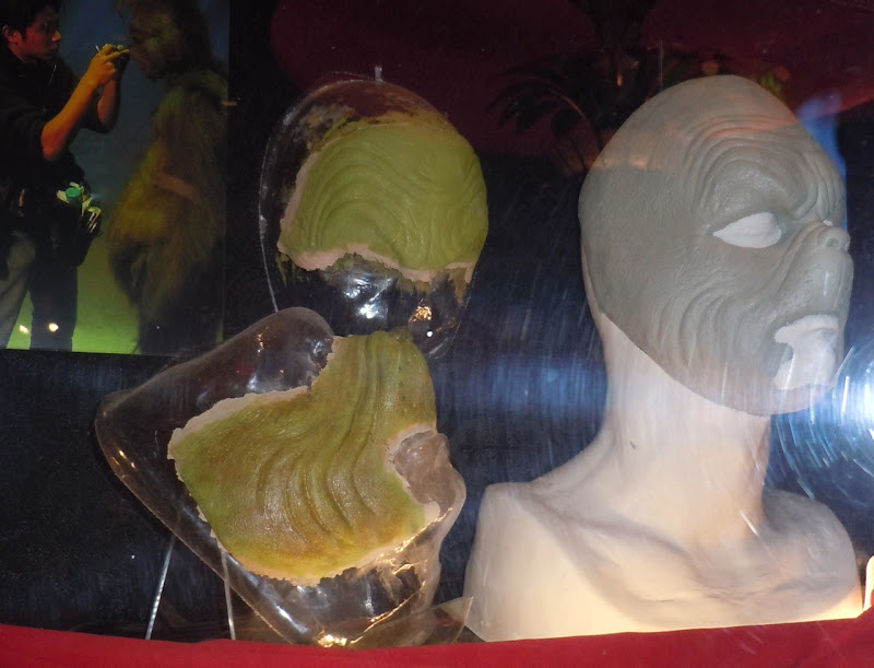Jim Carrey's make-up prosthetics from The Grinch ... Jim Carrey Grinch Makeup