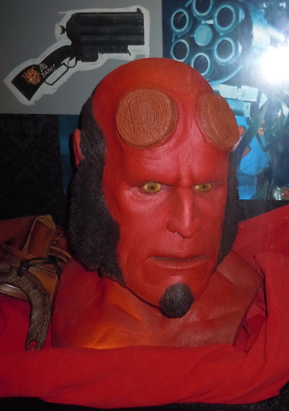 Prosthetic Hellboy mask