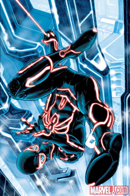 Spider-Man Tron cover