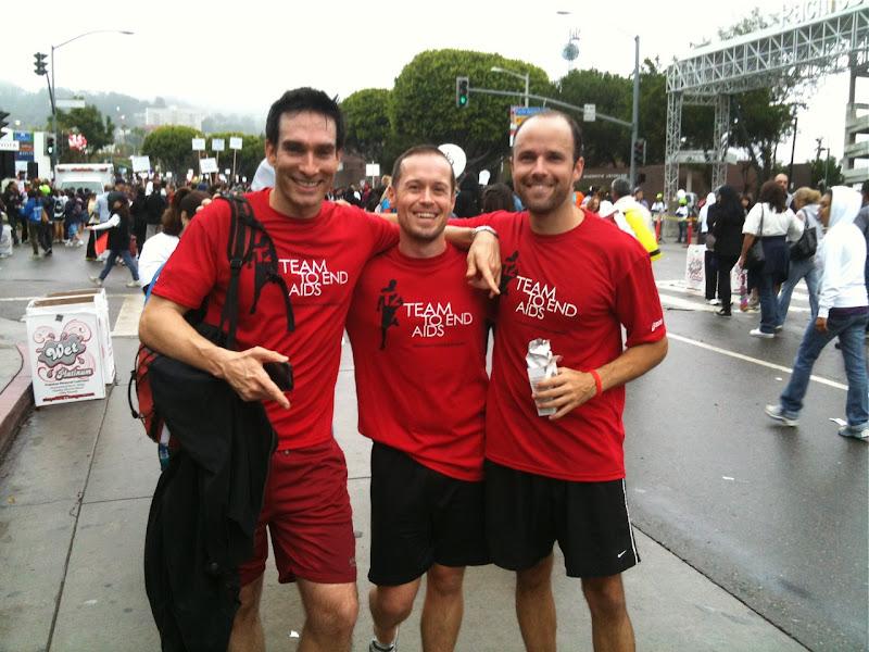 T2 AIDS Walk winning team